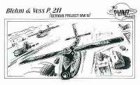 Blohm & Voss P.211, WW II, German Aircraft Projekt, 1/48 Resin Kit