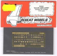 Pedals hist. & mod., Reheat Photoetched Parts, 1/72