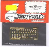 Pedals hist. & mod., Reheat Photoetched Parts, 1/48