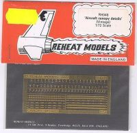 Aircraft Canopy Details, hist., Reheat Photoetched Parts, 1/72