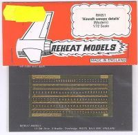 Aircraft Canopy Details mod., Reheat Photoetched Parts, 1/72