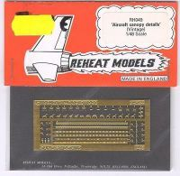 Aircraft Canopy Details, hist., Reheat Photoetched Parts, 1/48