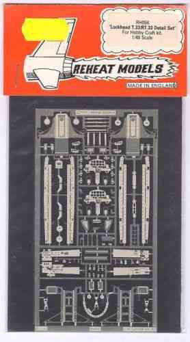 T-33/RT-33 Detail Set (Hobbycraft), Reheat Photoetched Parts, 1/48
