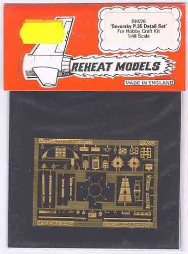 Seversky P. 35 Detail Set (Hobbycraft), Reheat Photoetched Parts, 1/48