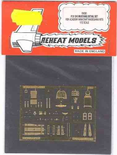 P-51D/K Mustang Detail Set, for Academy/Minicraft, Reheat Photoetched Parts, 1/72