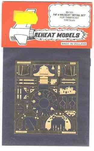F4F-4 Wildcat Detail Set (Tamiya), Reheat Photoetched Parts, 1/48