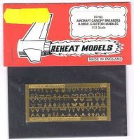 Aircraft Canopy Breakers & Misc. Ejector Handles, Reheat Photoetched Parts, 1/72