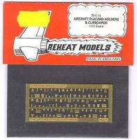 Aircraft Placard Holders & Clipboards, Reheat Photoetched Parts, 1/72