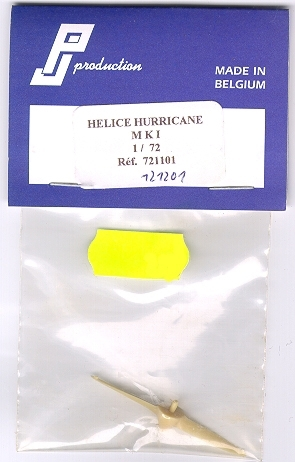 Helice Hurricane Mk.1 Propeller, Resin Conversion Part, 1/72