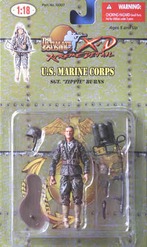 "U.S. Marine Corps, Sgt. ""Zippie"" Burns, getarnt, 1/18"