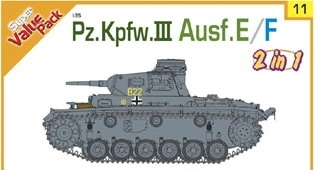 Pz.Kpfw. III, Ausf. E/F, German Army, WWII, Super Value Pack, 1/35