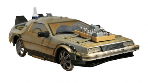 """Back To The Future""- DeLorean Mk3 on railroad wheels, 1/15 Collectible Light & Sound"