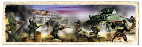 U.S. M4A1 Sherman and Soldiers Set, D-Day Commemorative Series, 1/72