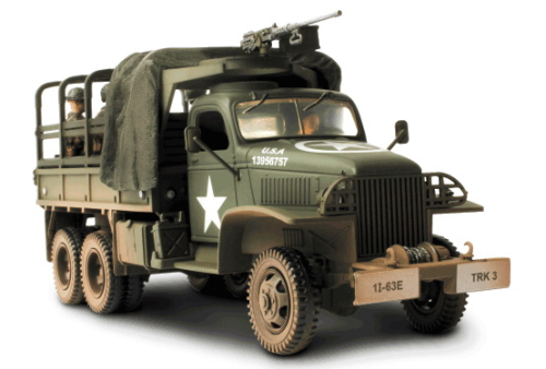 GMC 2,5t Cargo Truck, Normandy 1944, D-Day Commemorative Series, mit halboffener Plane, 1/32