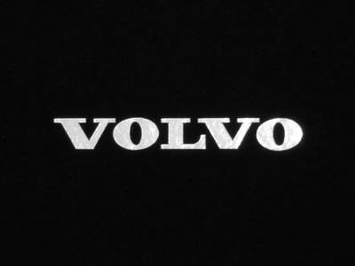 VOLVO Logo Sticker, Silver, Letter Hight 5mm, 1 Set (3 pieces)