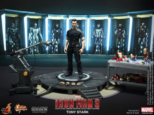 IRON MAN 3 - Tony Stark with Workshop, Limited Edition, 1/6 Collectible