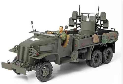 GMC 2,5t Cargo Truck with 4x0.5 AA Machine Gun M45, 1/32
