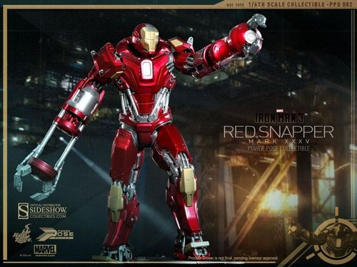 IRON MAN Mark XXXV (35) Red Snapper, IRON MAN 3, 1/6 Sammlerfigur