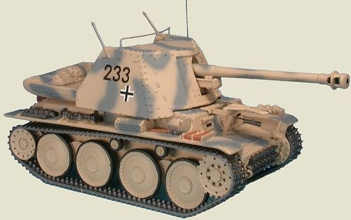 Marder III Ausf.H 7.5 cm Pak40, tank hunter, 21th Pz. Div. Tunsia, March 1943, 1/48 Collectible