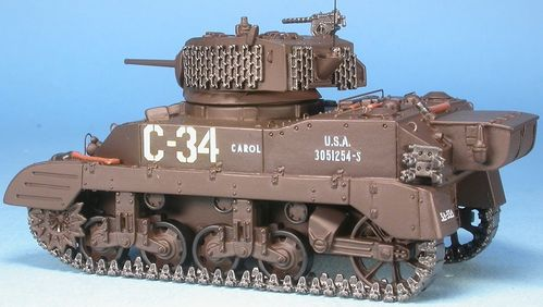 M5A1 Stuart 3rd U.S. Div. Blindé Bataille de Saint-Lô France, Normandy, July 1944, 1/48