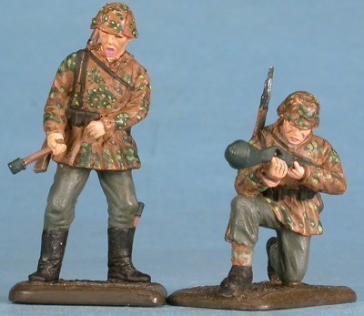 German tank hunters, Normandy 1944, handpainted diecast figures, 1/48