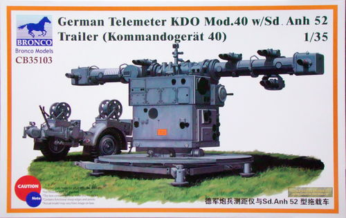 German Telemeter KDO Mod.40 (Kommandogerät 40) with Sd.Ah.52, 1/35 Kit