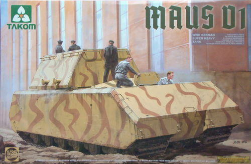 Maus V1, Super Heavy German Tank, 1/35 Kit
