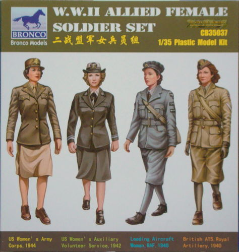 WWII Allied Female Soldier Set, 1/35 Kit