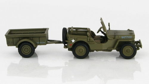 Willys British Airborne Jeep w/ Trailer, 6th  Airborne Div., Brit. Army, Normandy, June 1944, 1/72