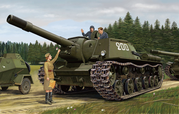 Russian Heavy Self-Propelled Gun SU-152 (KV-14) (Late-Production), Kit 1/35