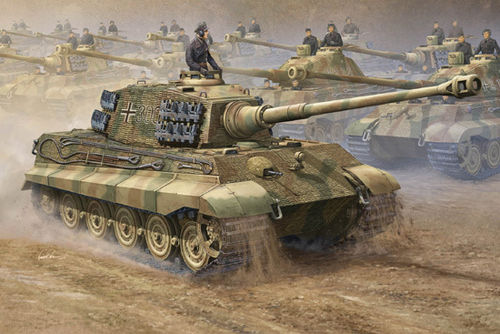 German King Tiger, 2 in 1 Kit with Henschel and Porsche Turret, 1/16 scale