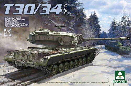 T30/34, U.S. Heavy Tank, 2 in 1 Plastic Kit, 1/35