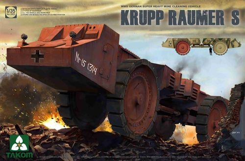 Krupp Raumer S, German Super Heavy Cleaning Vehicle, Plastic Kit, 1/35