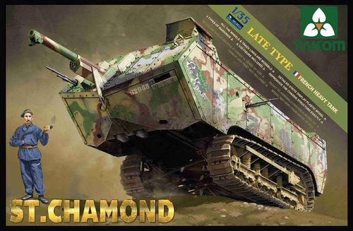 St.Chamond, Late Type, French Heavy Tank, WWI, Plastic Kit, 1/35