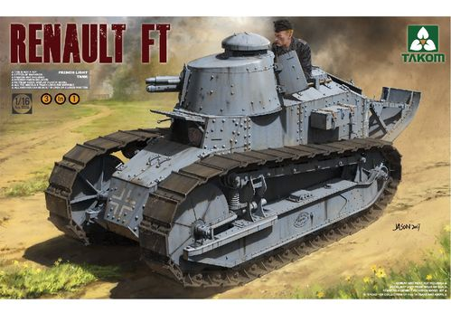 Renault Ft-17, French Light Tank, Plastic Model Kit 1/16 scale