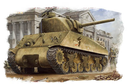 M4A3 Sherman, U.S. Tank, 1/48 scale plastic kit