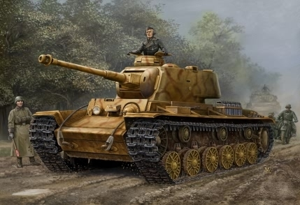 Pz.Kpfw KV-1 756( r ), German Captured Tank, 1/48 scale kit