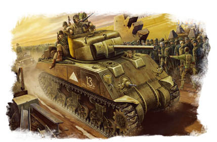 M4 Sherman, U.S.Tank, (Mid –Model), 1/48 scale kit