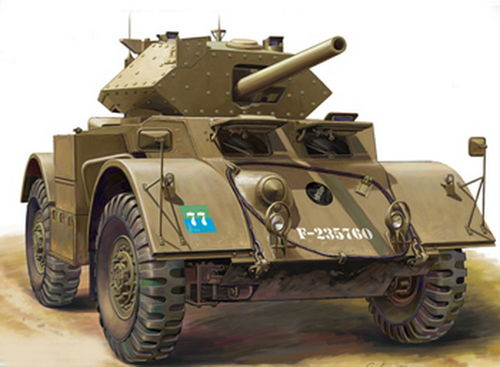 Staghound Mk.III, Brit. Armoured Car, 1/48 scale plastic kit