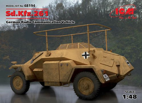 Sd.Kfz.261, German Armoured Car, 1/48 scale plastic kit