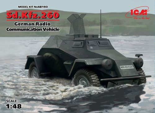 Sd.Kfz.260 German Radio Communication Vehicle, 1/48 scale plastic kit