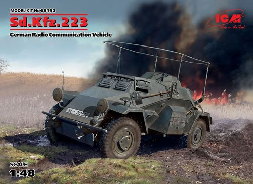 Sd.Kfz.223 German Radio Communication Vehicle, 1/48 scale plastic kit