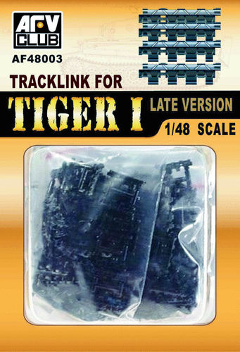 Tiger I Track Link, Late, 1/48 scale plastic kit