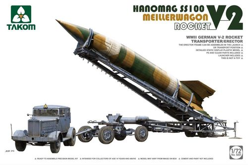 V-2 Rocket on Meillerwagon with Hannomag SS100 Truck, Plastic Kit 1/72