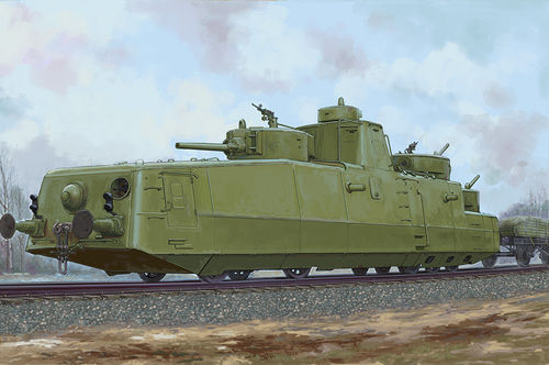 MBV-2 Soviet Armored Train, Plastic Kit, 1/35