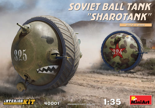 "Soviet Ball Tank ""Sharotank"", Kit with Interior, 1/35"