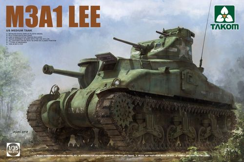 M3A1 LEE, US Medium Tank, Plastic Kit, 1/35