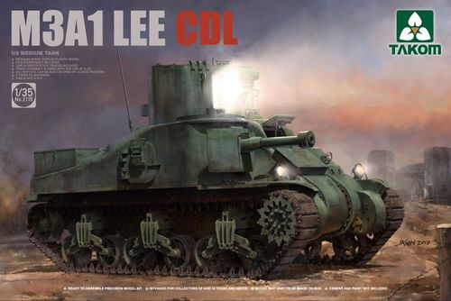 M3A1 LEE CDL, US Medium Tank, Plastic Kit, 1/35