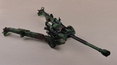 M198, 155mm US Towed Howitzer, Woodland Camo, Collectible 1/16
