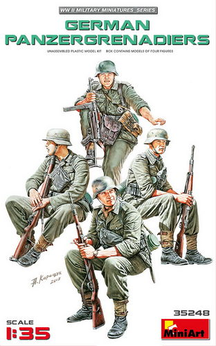 German Infantry, sitting, Plastic Model Kit 1/35